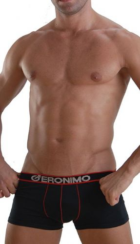 GERONIMO Mens Underwear Stylish Black or Grey Boxer Bamboo Hipster 959b1